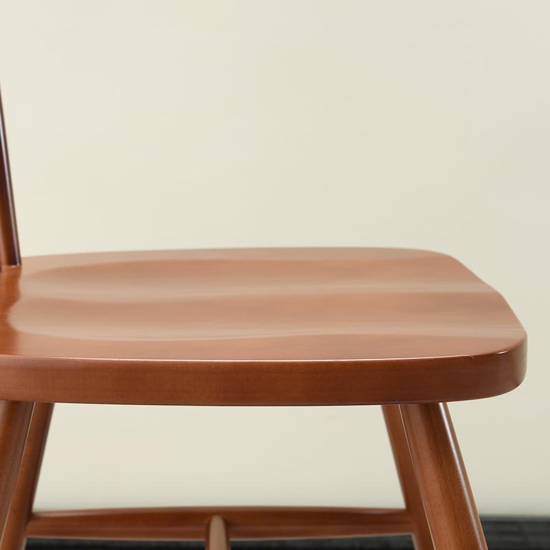 木之情温莎椅北欧餐椅书房椅扶手简约餐厅办公休闲学习椅子实木椅
