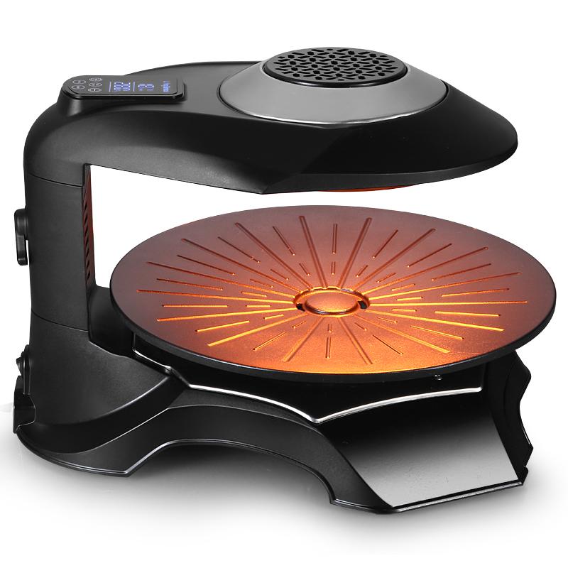 韓國韓式紅外線電燒烤爐無煙不粘家用商用自動旋轉烤肉盤鐵板燒