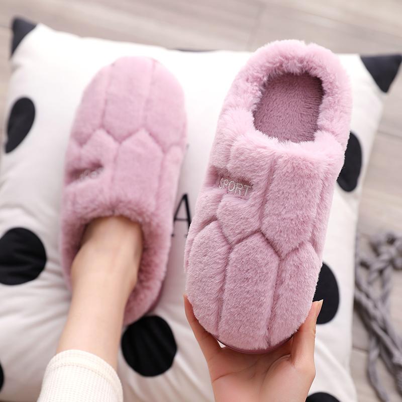 棉拖鞋女冬季厚底情侣可爱韩版学生宿舍家居防滑室内拖鞋月子鞋
