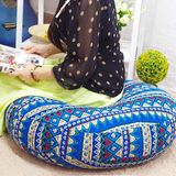 Hand washable cotton futon cushion thick round fight cushion pad windows and tatami sitting meditation ceremony