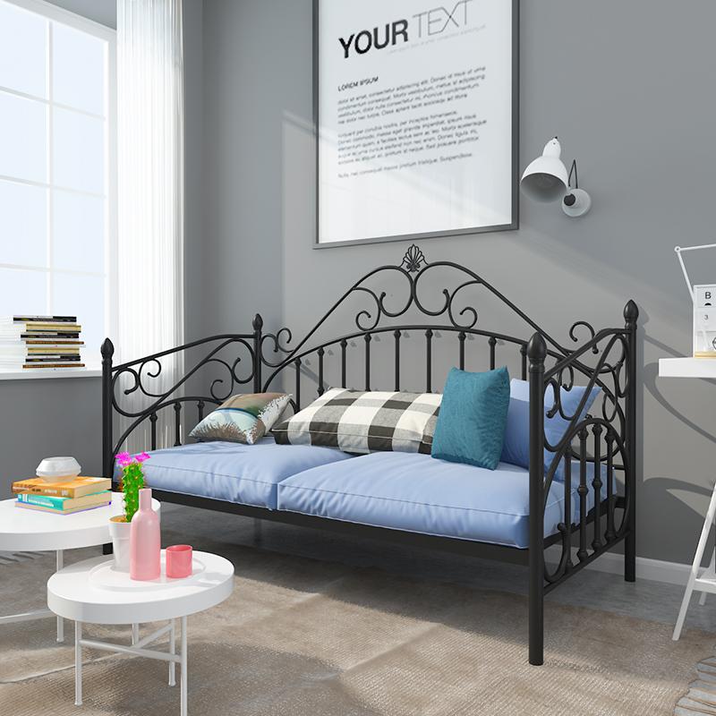 诺冠铁艺沙发床欧式田园风格客厅双人坐卧两用公主沙发北欧沙发