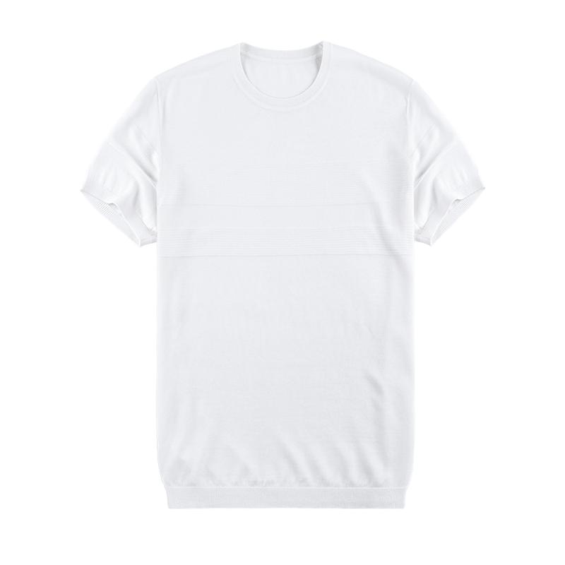 布先生 短袖T恤 针织衫夏季男装新款男士短袖针织圆领短袖AT2083