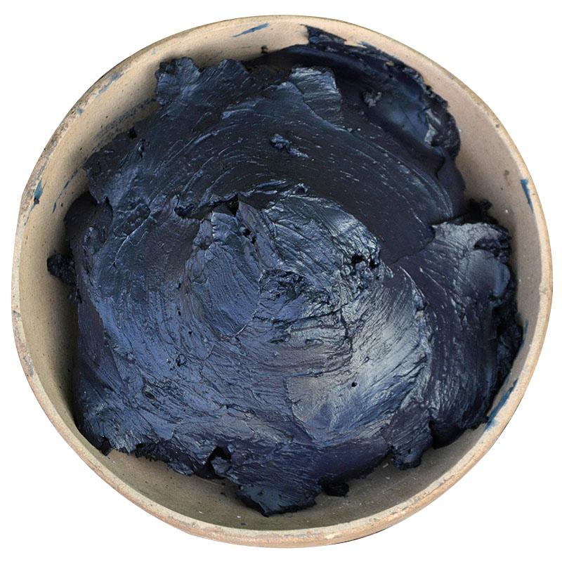 蓝靛膏土靛蓝靛泥蓝染草木染植物染色蜡染1000克DIY套装 环保染料