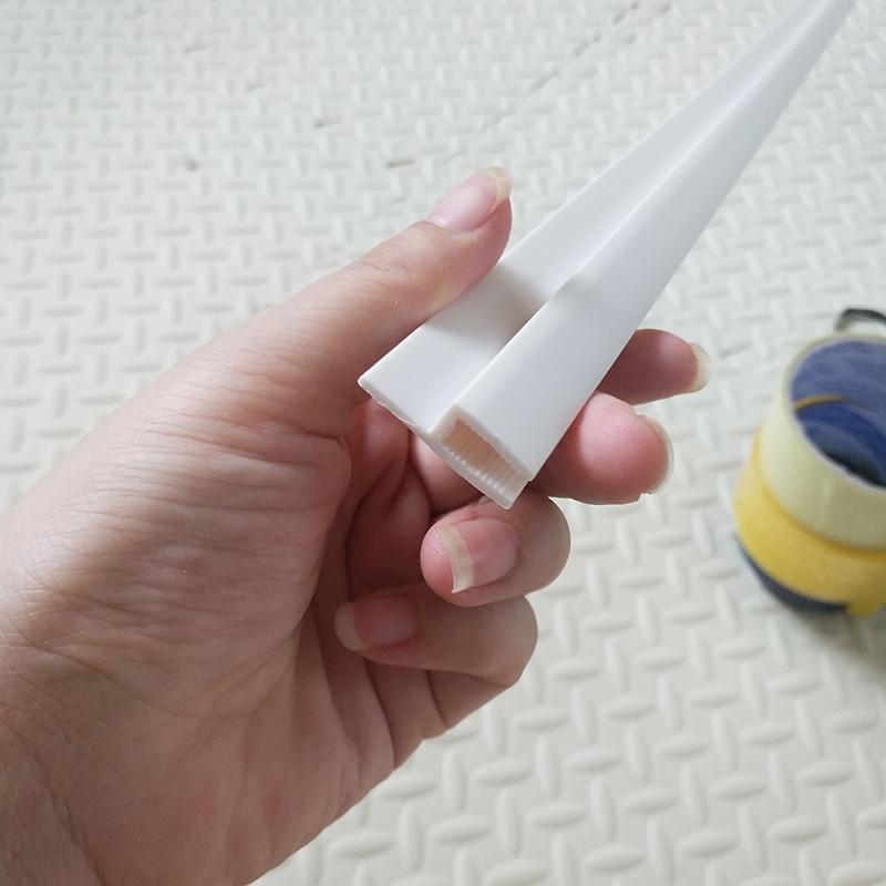 软膜天花H码F码pvc龙骨专用圆形弯弧装圆平口PVC龙骨HF码弯弧专用