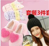 Autumn and winter months shoes month hats maternal socks spring and autumn parent-child hats postpartum month supplies maternity shoes increase thickening new