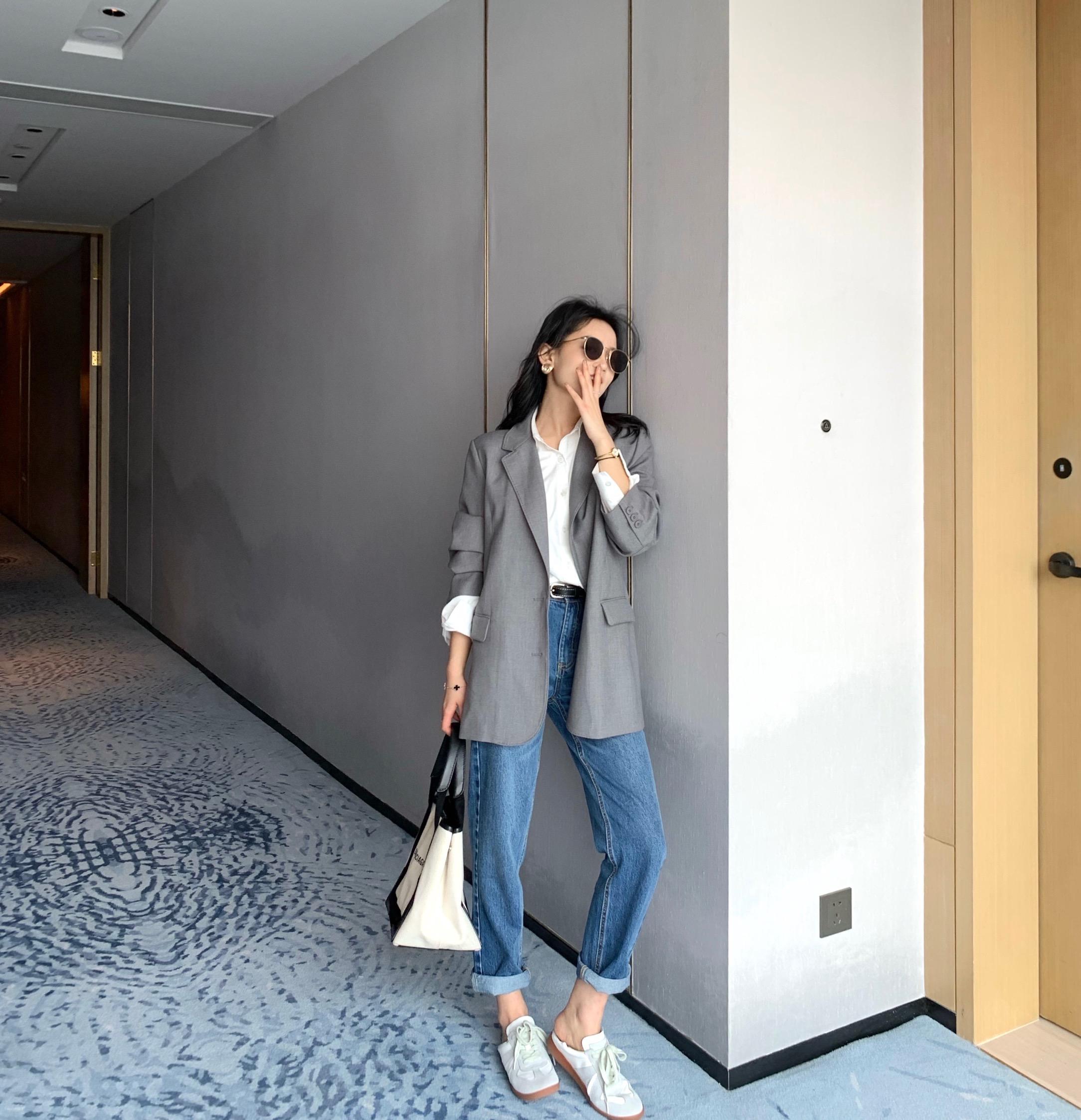 X031 显瘦西服上衣 2020 廓形西装外套女春秋休闲气质高级感 南瓜谷