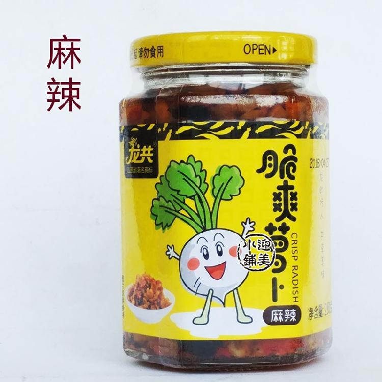 龙共小米椒脆爽萝卜干下饭菜咸菜腌制泡菜 江西丰城特产210克x2瓶
