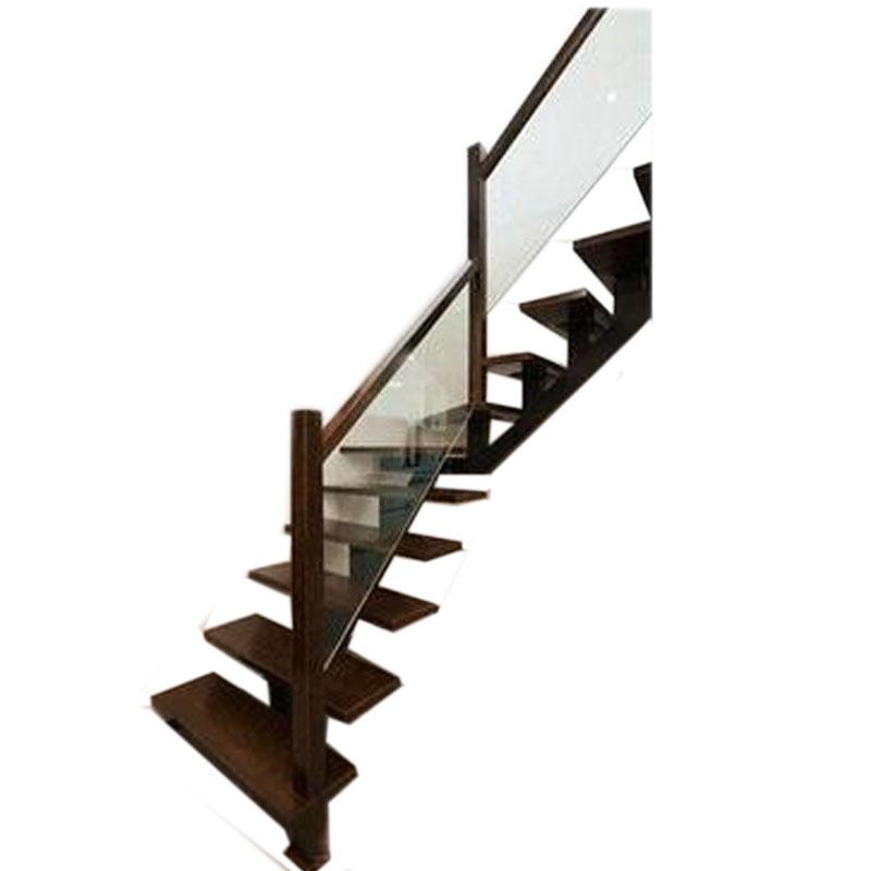 热卖/促销时尚复式阁楼橡胶木省空间钢木楼梯/玻璃围栏现代简约风