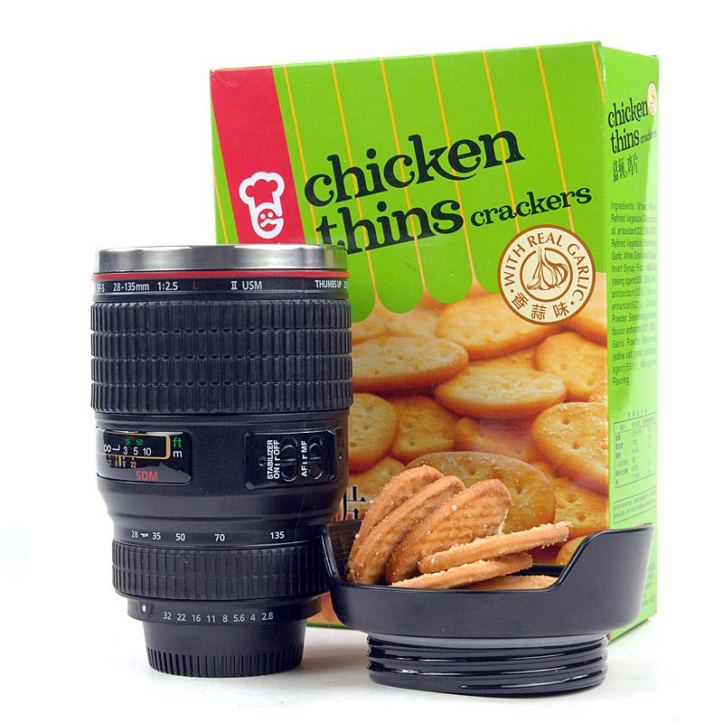 香港HOMADE仿真红圈单反相机镜头水杯佳能创意镜头杯子情侣咖啡杯