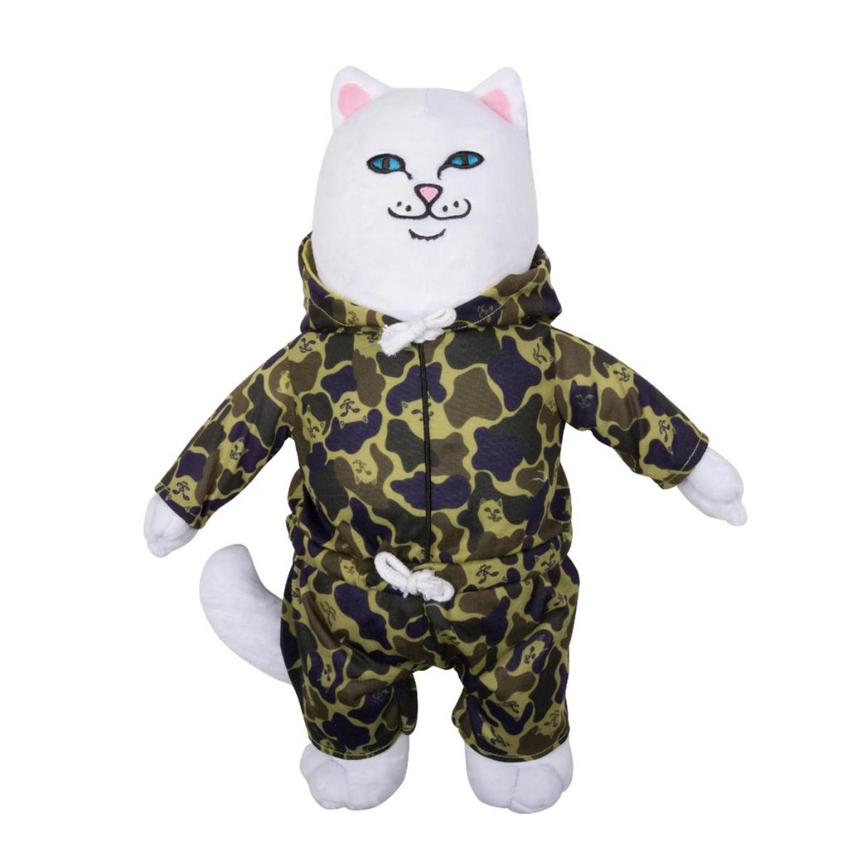 毛绒玩具 公仔 抱枕 玩偶 迷彩外套贱猫娃娃 camo nerm ripndip