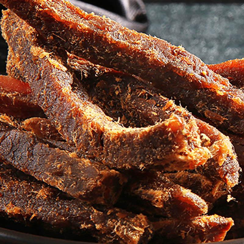 包邮 猪肉干手撕风干零食散装特产猪肉脯猪肉丝 五香肉条 来伊份