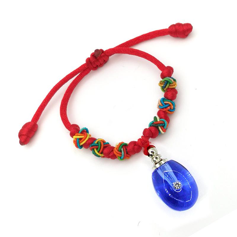 水晶胎毛瓶宝宝手链挂件挂坠钥匙扣胎发纪念diy手工金猪满月礼品