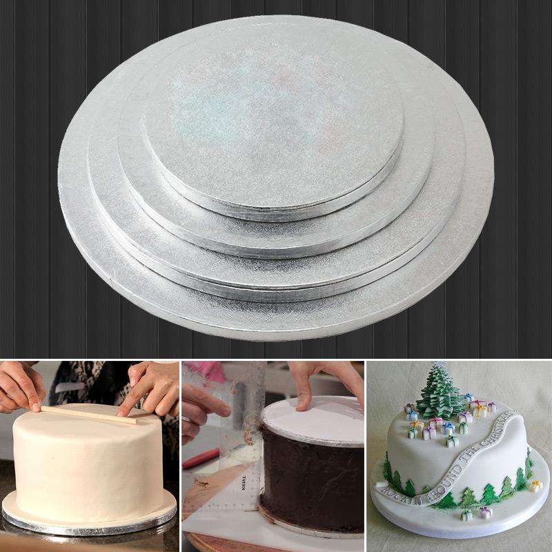 英國tala銀色包邊翻糖蛋糕墊片 底託 轉移板12mm厚 8 10 11 12寸