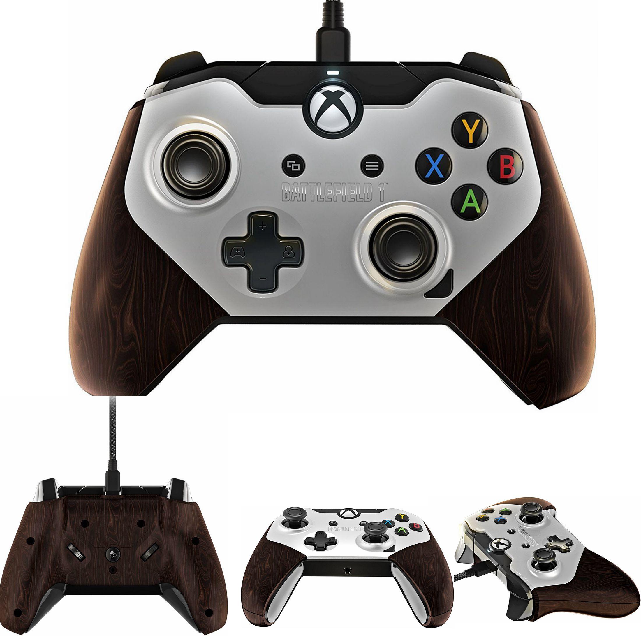 微软xbox one手柄 xboxonePDP透明RGB自定义炫光电脑游戏有线手柄