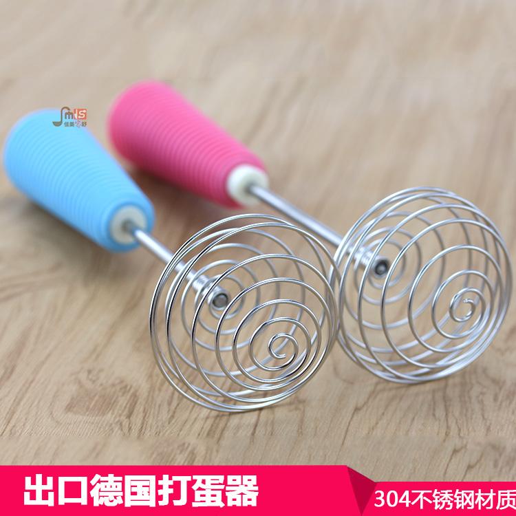 出口德國螺旋形不鏽鋼打蛋器 手動攪拌器彈簧形蛋抽廚房烘焙工具