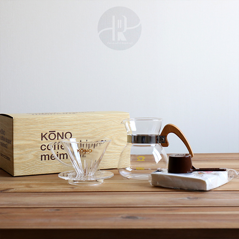 日本Kono名門手衝咖啡壺套裝 家用滴漏滴濾式玻璃分享壺 現貨包郵