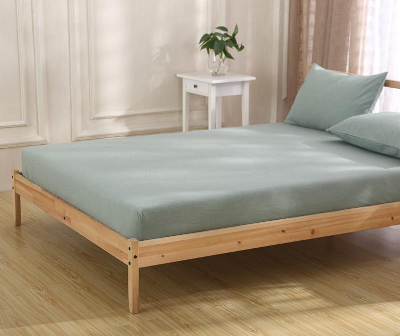 全棉纯色水洗棉被单大床单单件纯棉床笠子无荧光剂榻榻米定制定做