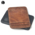 Small round elephant simple and compact portable first layer cowhide card holder ID card holder female business card holder youth hit color