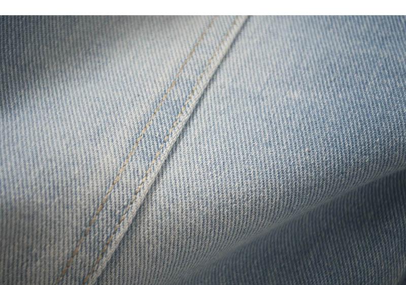 牛仔短外套女百搭短款七分袖中袖春夏做旧开衫修身显瘦经典浅色潮