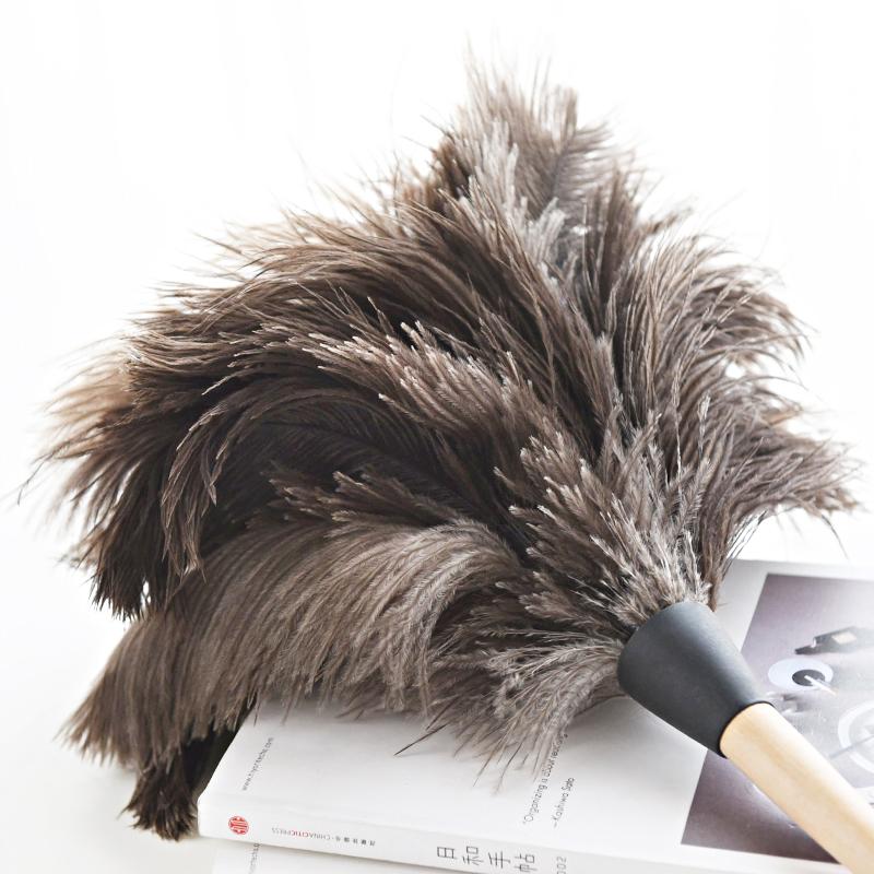 鸵鸟毛羊毛除尘掸子 电器橱柜扫尘用品 清洁家居鸡毛掸子除尘掸头