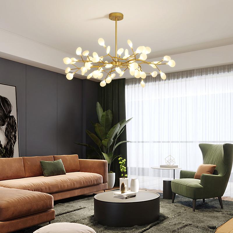 厅2020新款现代轻奢客厅灯