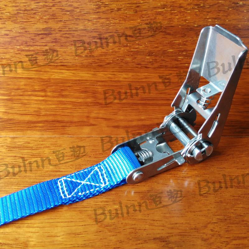 百韧-不锈钢棘轮绑带 800公斤*2.5厘米 棘轮绑带 环绕绑带 摩旅行