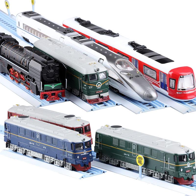 和谐号动车模型高铁CRH地铁合金火车儿童玩具小火车组合装套装