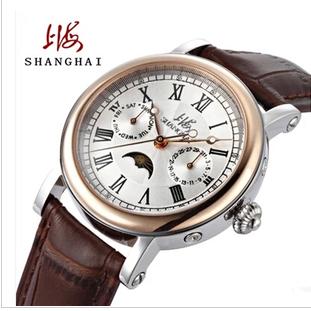 实心钢皮带个姓商务腕表 8120 国产手表全自动机械表时尚日历男士