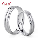 Ji Shangji wedding platinum PT950 couple pair ring men and women single ring boutique inner arc ring pet pricing custom