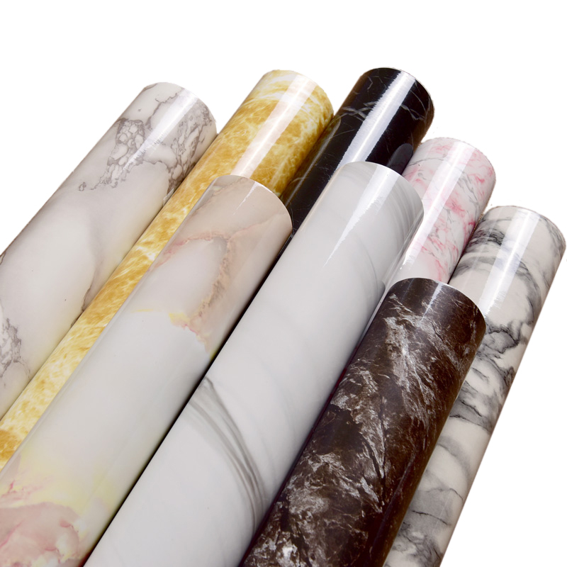 高清墻貼衛生間臺面仿大理石紋貼紙自粘墻紙防水櫥柜家具翻新貼紙