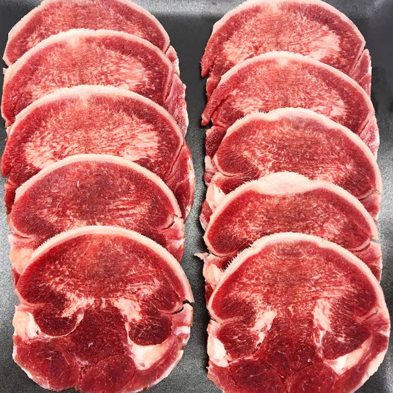 牛舌片 韩国烤肉韩式烤肉食材烧烤食材半成品冷冻去皮生牛舌200g