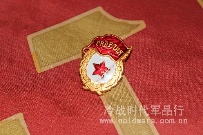 俄羅斯紅場紀念品 蘇聯近衛軍證章 迷你版襟領章 勝利日徽章胸花
