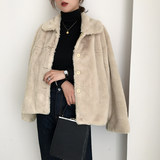 inseoul fur coat female faux fur plush winter new 2018 short paragraph small fragrant rabbit fur coat