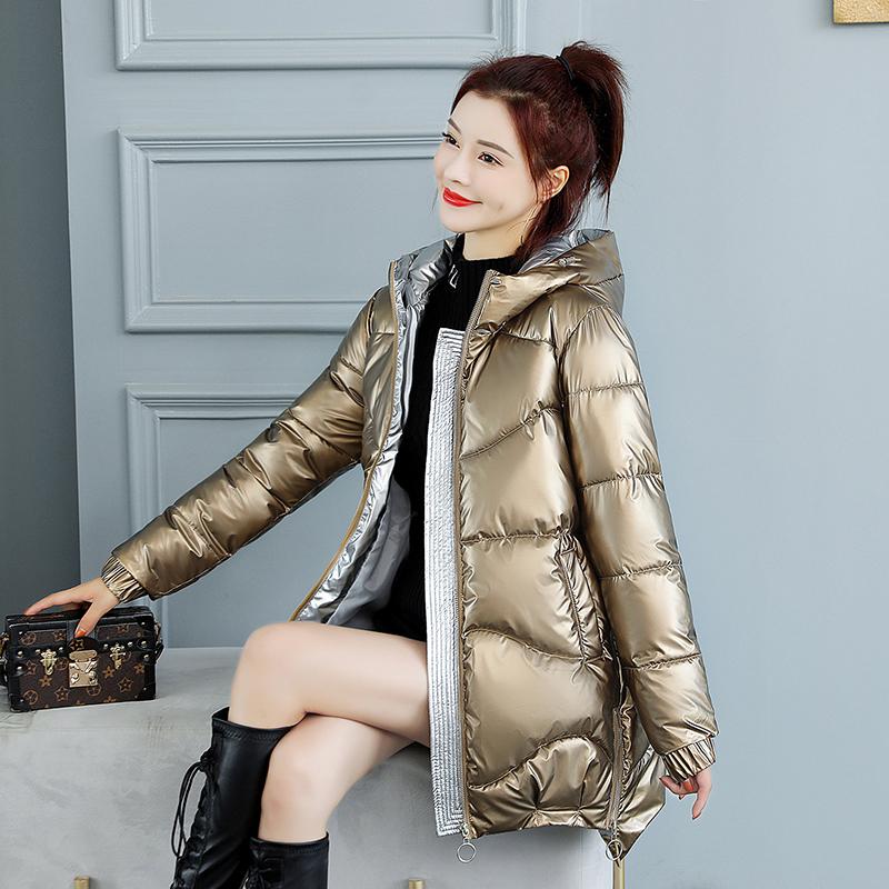 单身狗冬天不冷了,加厚韩版大毛领羽绒棉服大码女装超大毛领