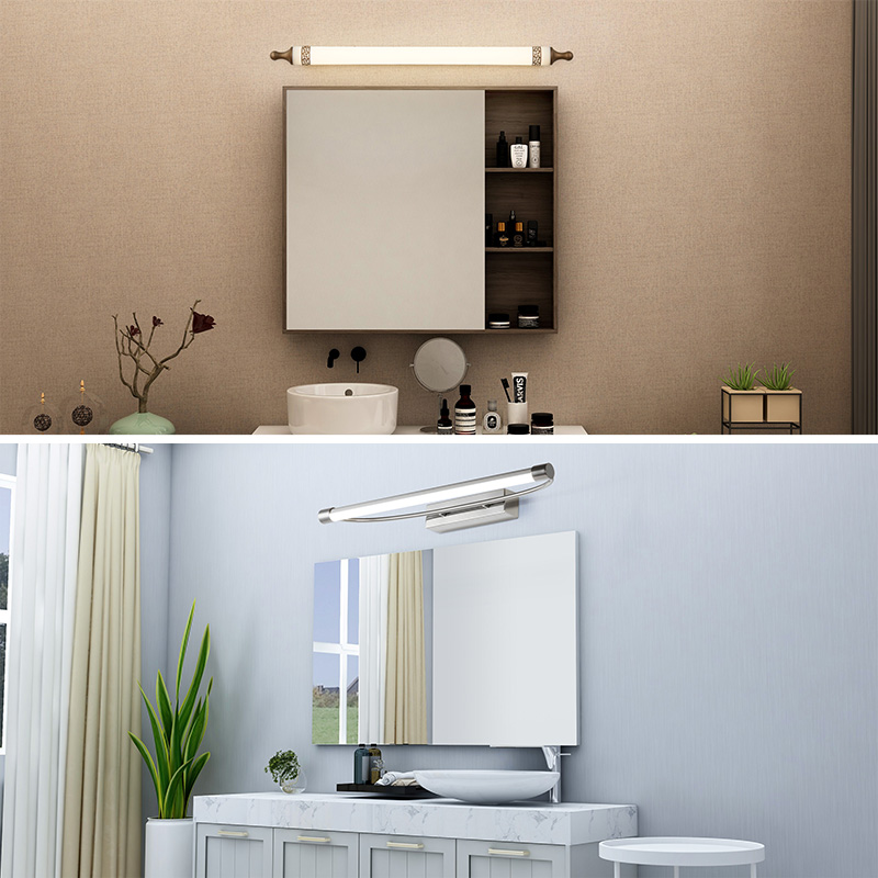 欧普照明led镜前灯卫生间镜柜灯浴室厕所梳妆台化妆简约补妆壁灯