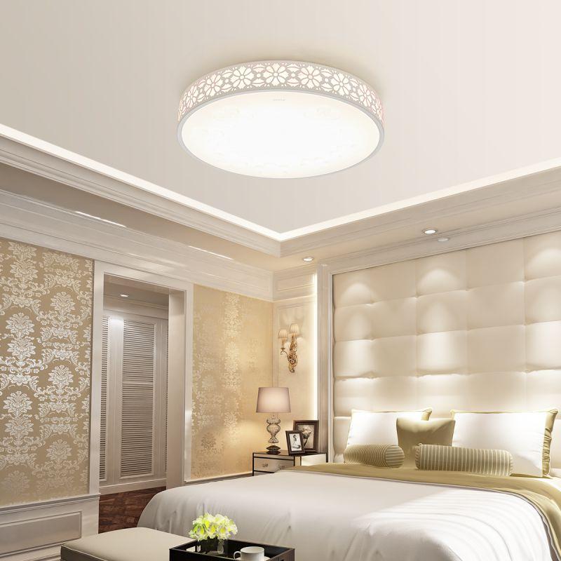 圆形卧室调光吸顶灯具饰餐厅房间现代简约温馨浪漫 led 欧普照明