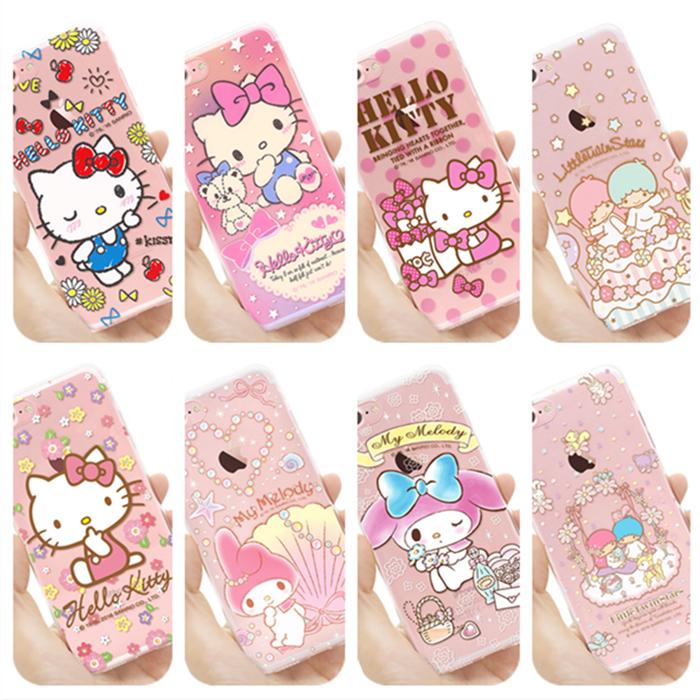 清倉特價 正品Kitty 雙子星 Melody iPhone7 iphone8 Plus 手機殼