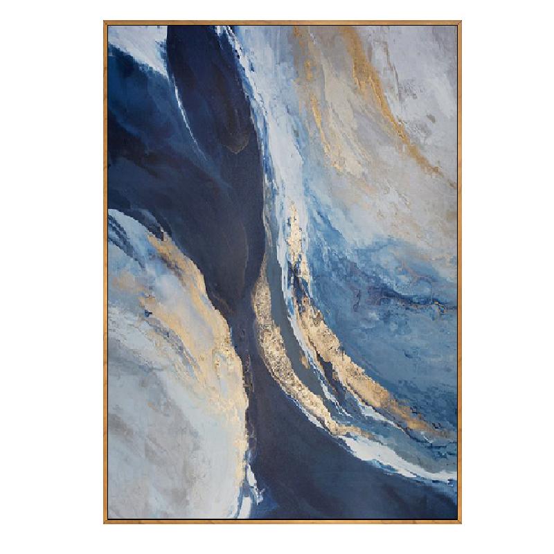 手繪抽象油畫現代簡約金色天空染畫歐式美式背景客廳玄關裝飾畫