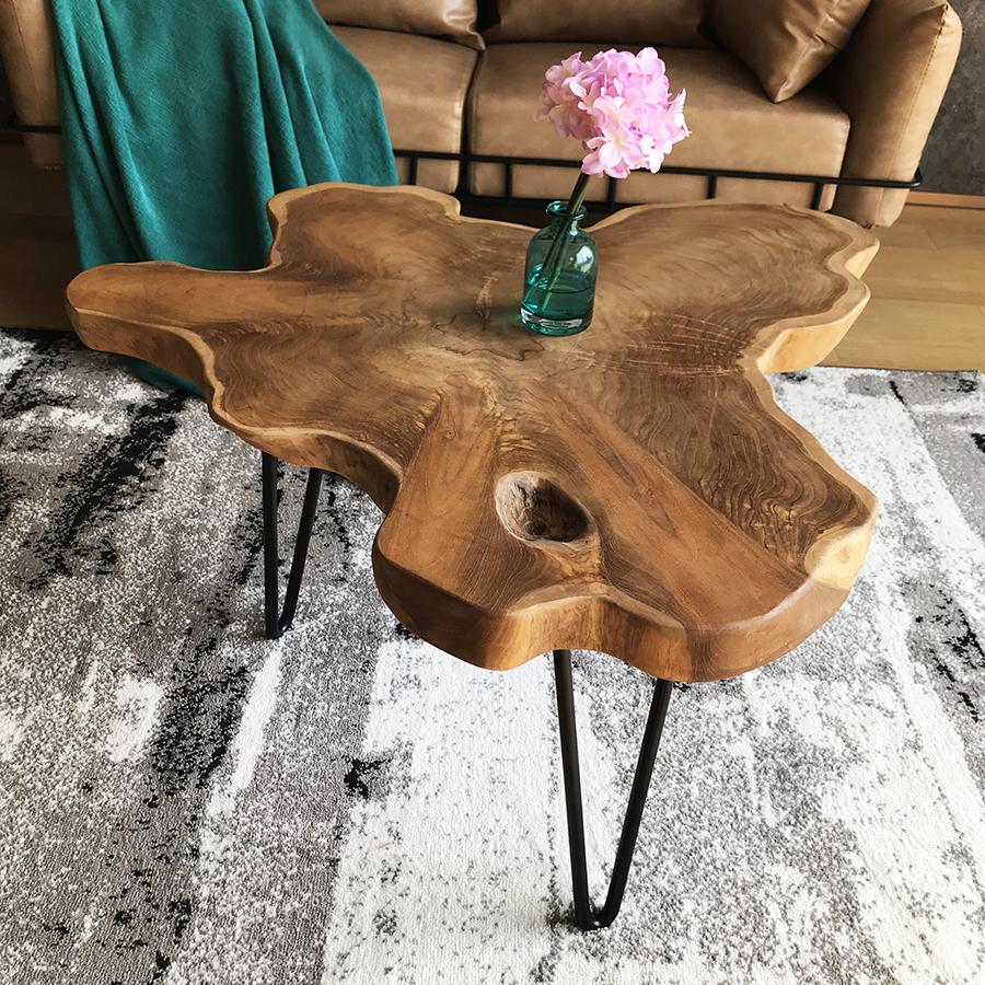 原生态实木原木边几小茶几沙发角几边桌床头客厅卧室工业风民宿