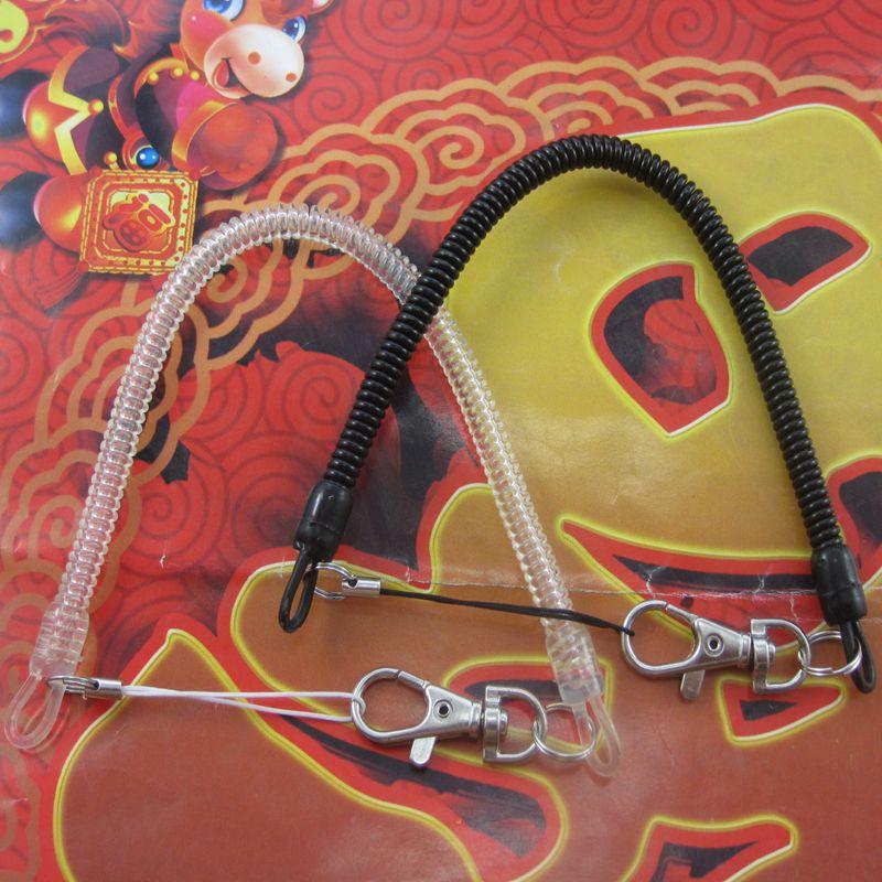 手机弹簧防丢塑料挂绳 老人钥匙扣手绳弹力伸缩硅胶链