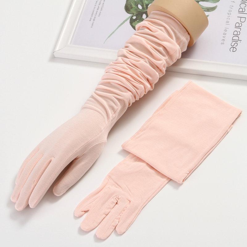 防晒手袖护臂手臂套袖长袖夏季长款莫代尔棉手套开车骑车