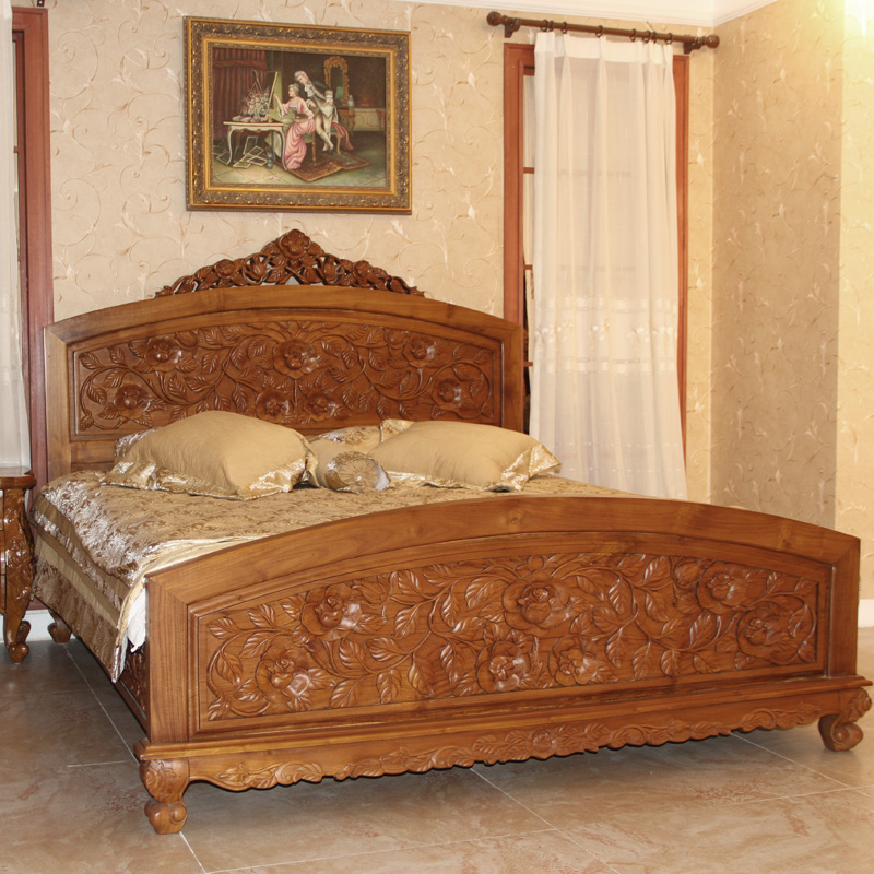 Beau Buy Emperor Pomelo Large Rose Gold Golden Teak Wood Teak Wood Bed Bed  Continental Furniture Bedroom Furniture Bedroom Furniture Ensemble In Cheap  Price On ...