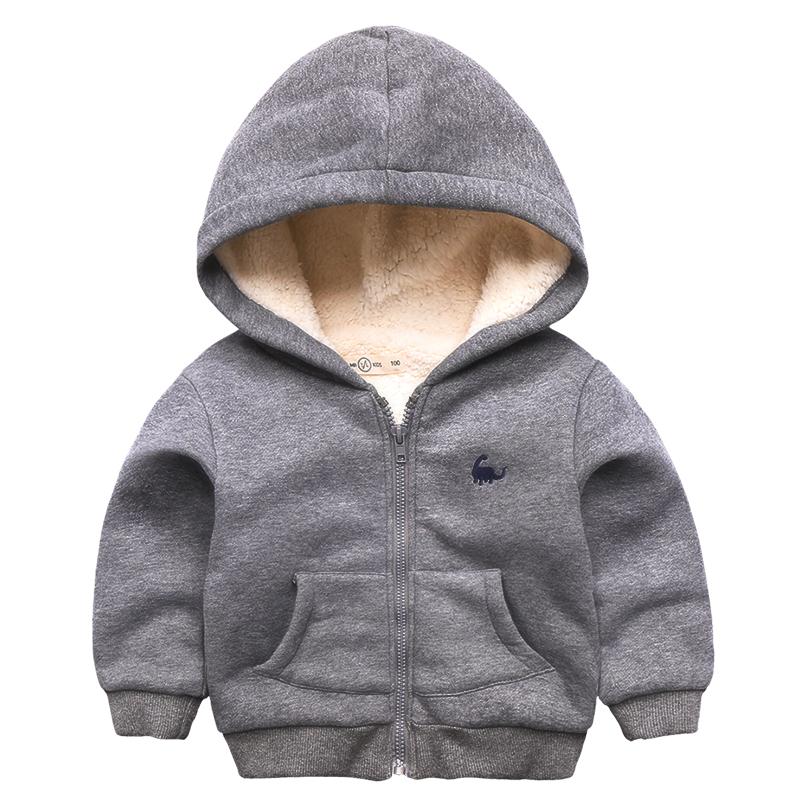 男童外套加绒冬季童装新款宝宝加厚羊羔绒棉袄儿童保暖棉衣外套