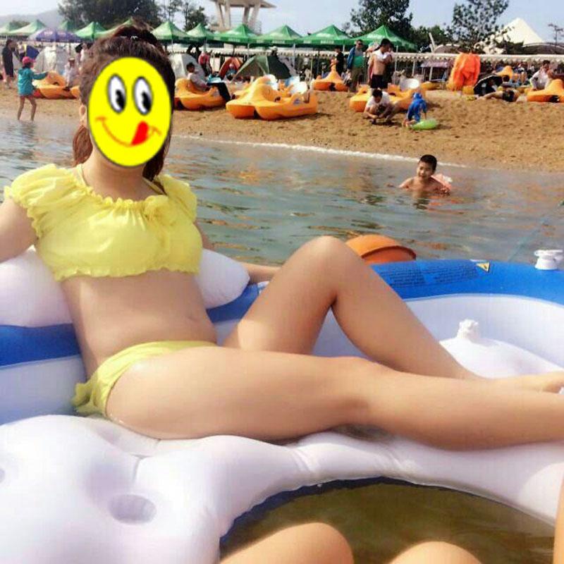 水上浮床游泳漂流充气床水上玩具游泳圈成人海边戏水浮排躺椅