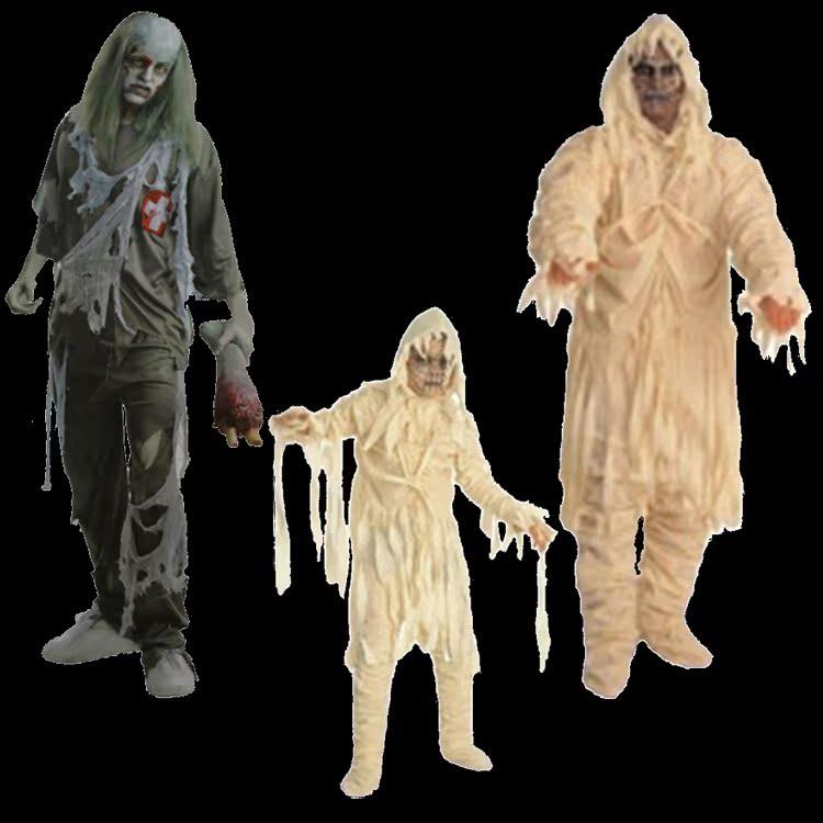 cc05e3263cdb4 Man cheung cos halloween costume adult children's halloween costume horror  zombie costume zombie costume