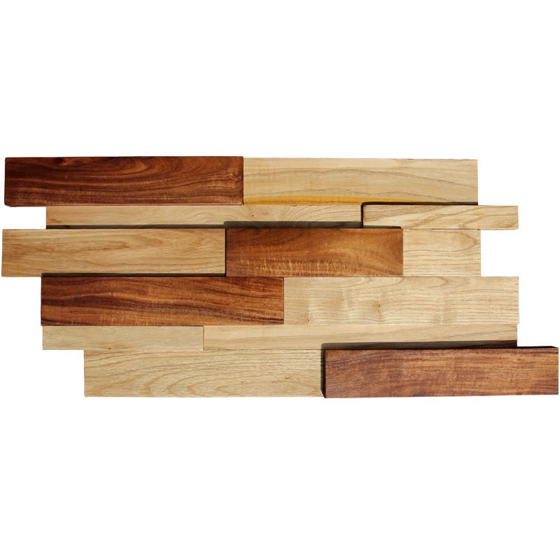 船木马赛克客厅餐厅咖啡厅电视背景墙实木马赛克实木瓷砖仿古家装