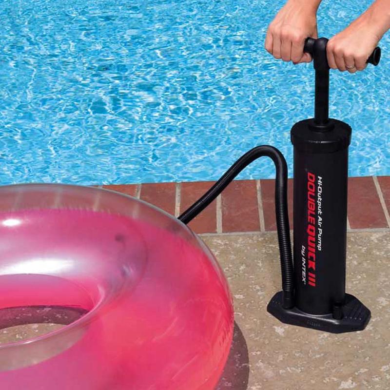 游泳圈打气筒便携户外手动充气泵游圈床垫皮划艇大号冲气泵包邮