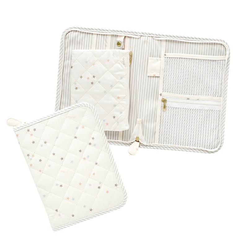 新款出口多彩星星印花母子手冊 大證件包 卡折包 母嬰產檢手冊包