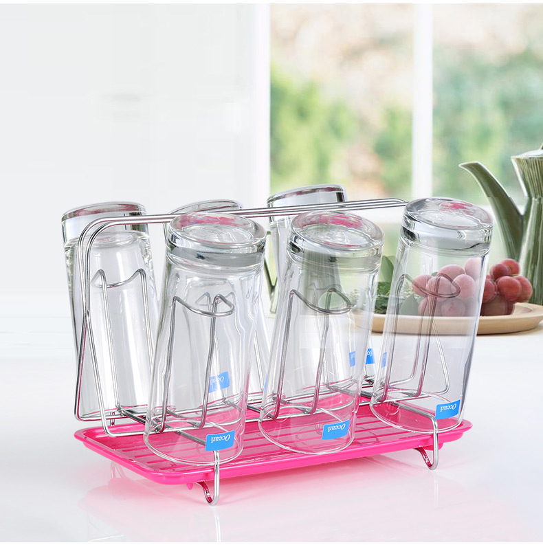 时尚创意杯架子厨房置物架沥水杯架玻璃杯架水杯收纳挂架