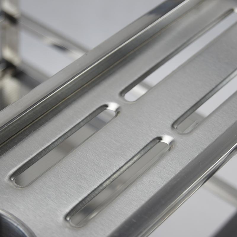 樱花拉篮304不锈钢调味篮橱柜方管阻尼调味篮抽屉置物架收纳拉篮